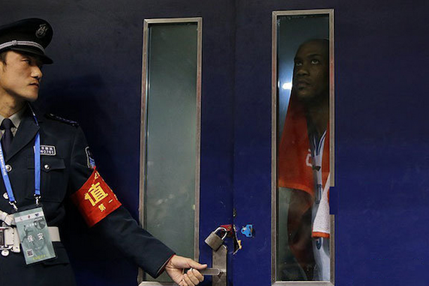 stephon marbury locked out of arena