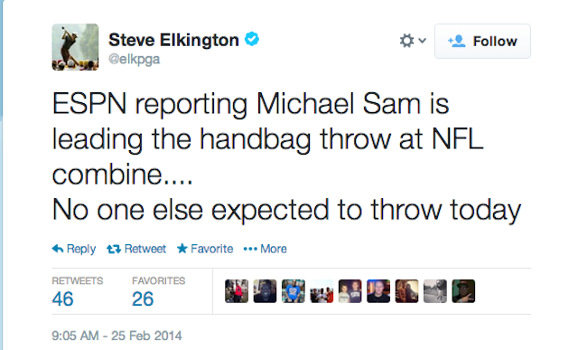 steve elkington michael sam tweet