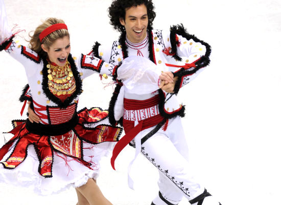 tanith belbin and benjamin agosto - crazy figure skating costume