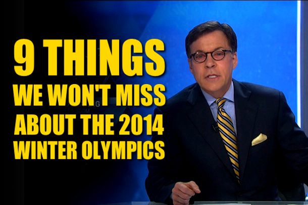 things we won't miss about the sochi 2014 winter olympics