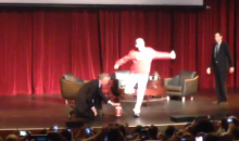 Will Ferrell Crashes Peter Carroll Speech at USC, Kicks a Field Goal (Video)