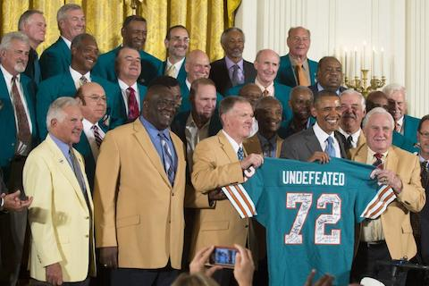 1 1972 Miami Dolphins - best undefeated teams of all-time