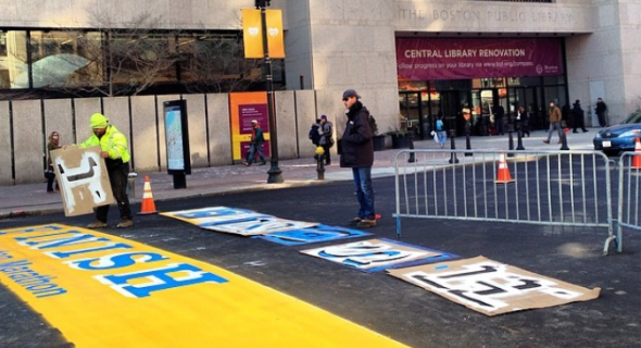 118th Boston Marathon finish line