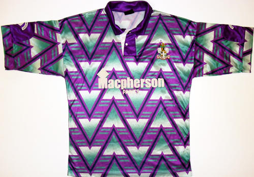17 bury f.c. 1992-93 away - worst soccer uniforms all time - worst football kits all time