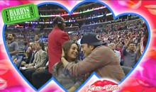 Ashton Kutcher and Mila Kunis Caught on Kiss Cam at Clippers-Pistons Game (Video)