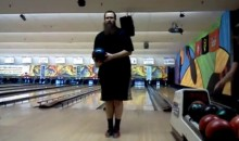 Guy Bowls 10 Consecutive Strikes … Backwards!!! (Video)