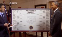 President Barack Obama Fills Out His 2014 NCAA March Madness Tournament Bracket (Video)