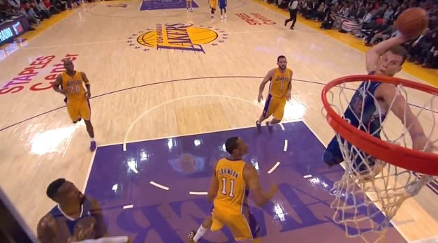 Blake Griffin alley-oop dunk vs Lakers