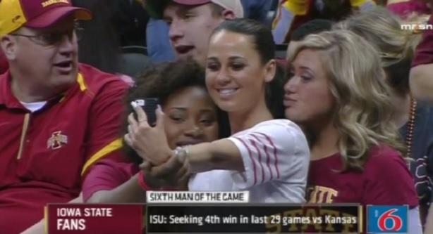 Brent Musburger Iowa State selfie