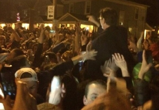 Dayton President crowd surf