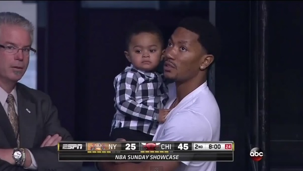Derrick Rose and son