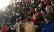 Dog Watches Red Wings-Canadiens Game at Joe Louis Arena (Photo)