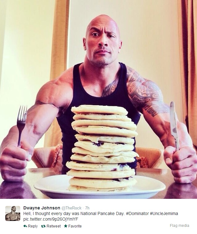 Dwayne 'The Rock' Johnson Pancake Tuesday