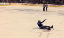 Drunk Fan Runs Onto Ice During Leafs-Lighting Hockey Game at ACC (Video)