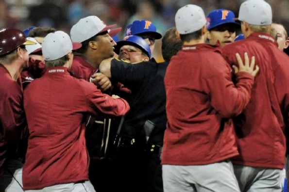 Jameis Winston Involved in Bench-Clearing Gators/Seminoles Baseball Game Brawl