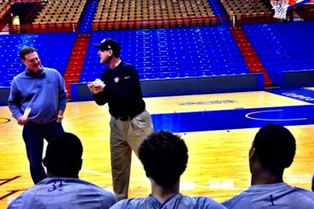 Jim Harbaugh KU Jayhawks pep talk