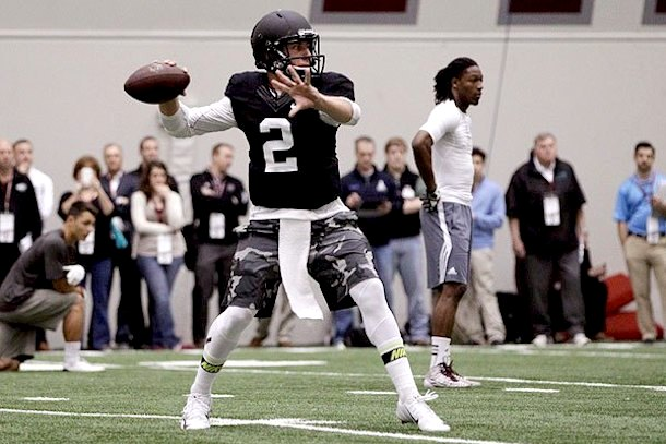 Johnny Manziel pro day
