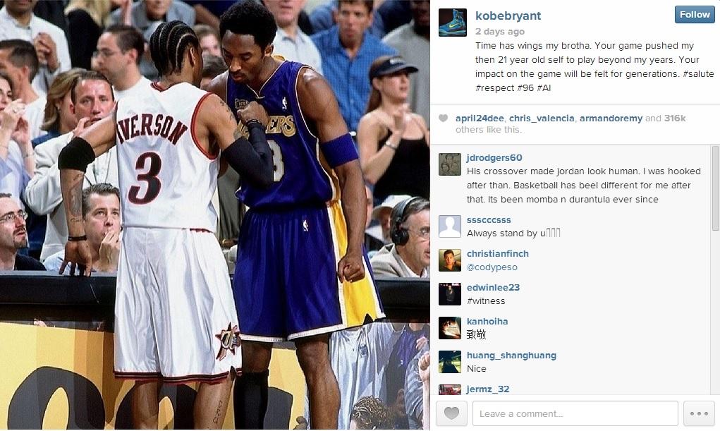 Kobe Bryant on Allen Iverson
