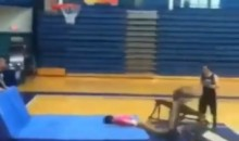 "Liberty University ""Soar Dunk"" Team Lets HS Student Try Trampoline Dunk, Hilarity Results (Video)"