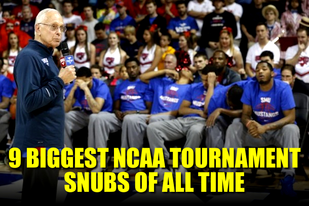 MSU basketball 2014 ncaa tournament snub -- biggest ncaa tournament snubs all time