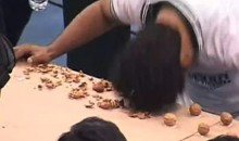 Man Breaks World Record 155 Walnuts With Head (Video)