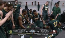 North Dakota State Goes Crazy After March Madness Upset Against Oklahoma (GIFs + Video)