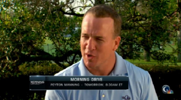 Peyton Manning golf channel interview