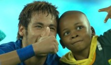 Neymar and His Brazil Teammates Have Fun With Young Pitch Invader (Video)