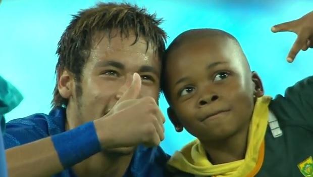 South African boy with Neymar
