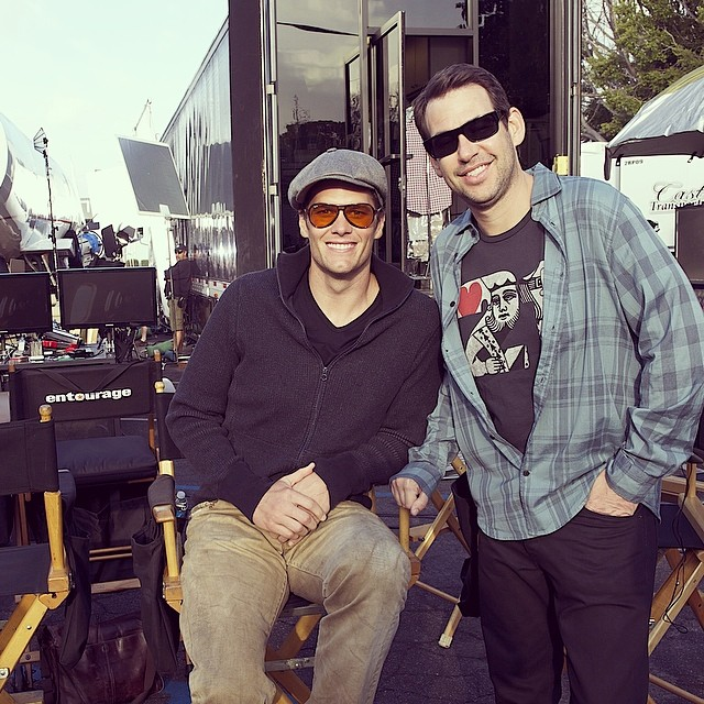 Tom Brady On Set Of 'Entourage'