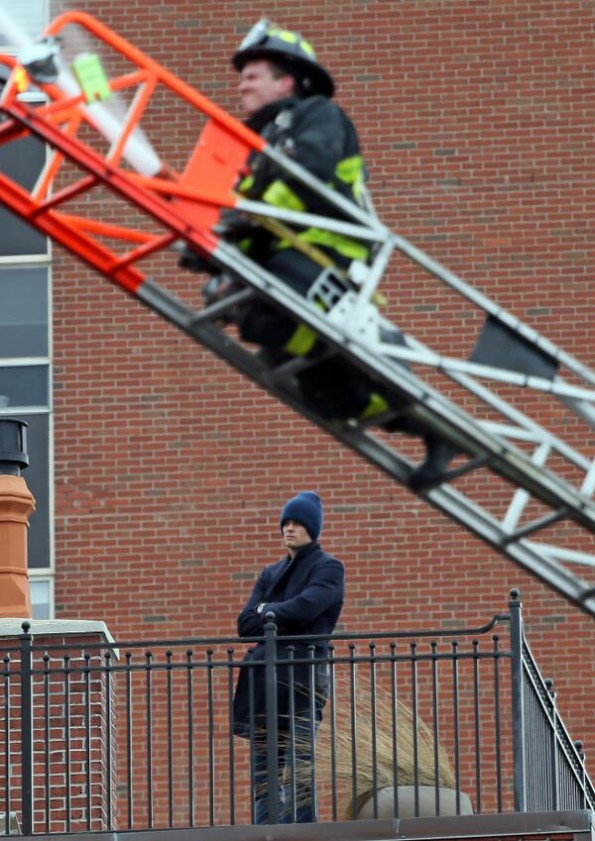 Tom Brady Watching Boston Fire