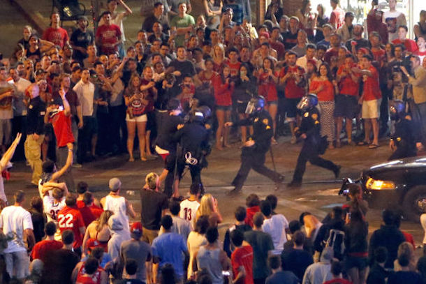 arizona riot after wildcats elite eight loss