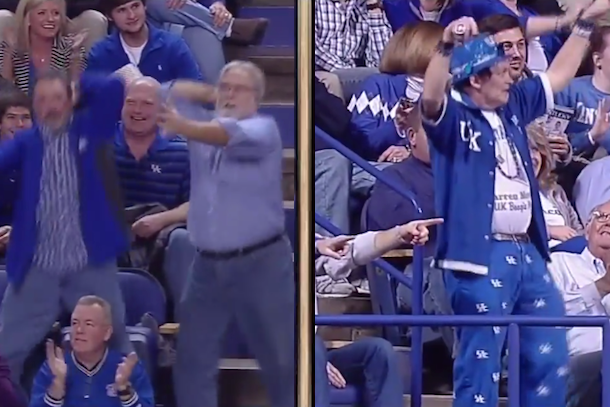 Watch these kentucky basketball fans dance their grown man hearts watch these kentucky basketball fans dance their grown man hearts out video total pro sports sciox Gallery