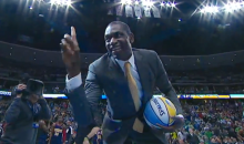 Dikembe Mutombo Trolled the Poor Denver Nuggets Mascot Pretty Good Last Night (Video + GIF)