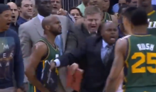 Brawl Almost Erupts at the End of Rockets-Jazz Blowout Because John Lucas Is an Idiot (Video)