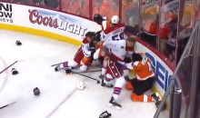 Flyers-Capitals Game Features Nasty Brawl Midway Through the First Period (Video)