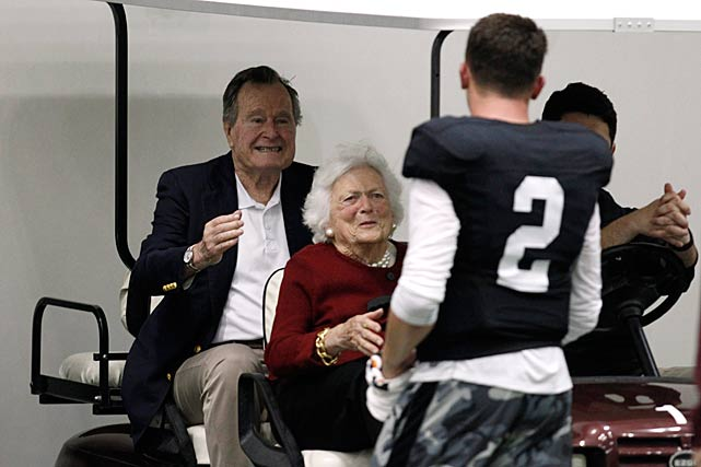 george h.w. bush at manziel pro day