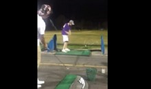 Two Friends Team Up For Awesome Golf Trick Shot (Video)