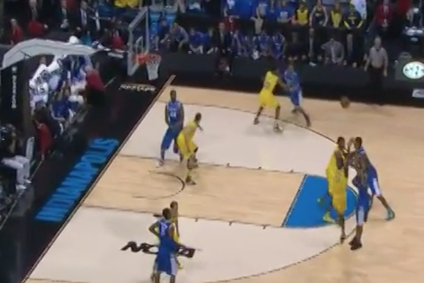 kentucky michigan aaron harrison game-winning three-pointer