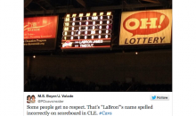 Apparently the Cleveland Cavaliers Have Forgotten How to Spell LeBron's Name (Pic)