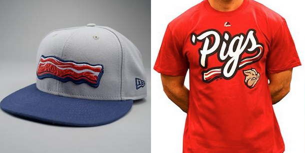 lehigh valley iron pigs bacon uniforms