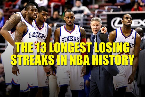 longest nba losing streaks