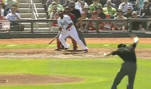 MLB Umpire Brad Myers Takes Scorching Line Drive to the Nuts (Video + GIF)