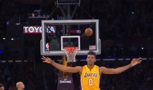 Lakers' Nick Young Celebrates Three-Point Miss (GIF)