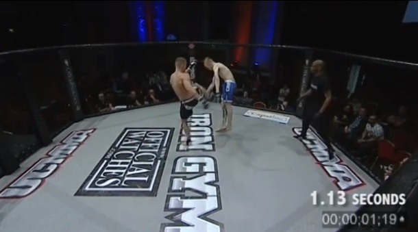 one second mma knockout