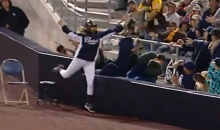 San Diego Padres Ball Girl Makes Great Catch to Kick Off the MLB Season (Video)