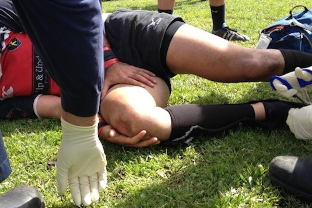 rugby injury broken patella 2