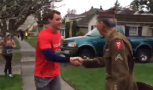 Runners Pause in the Middle of a Race to Thank World War II Veteran for His Service (Video)