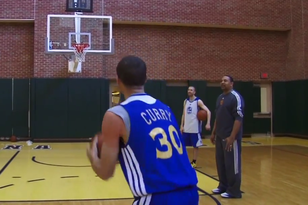 stephen curry loses three-point contest to coach