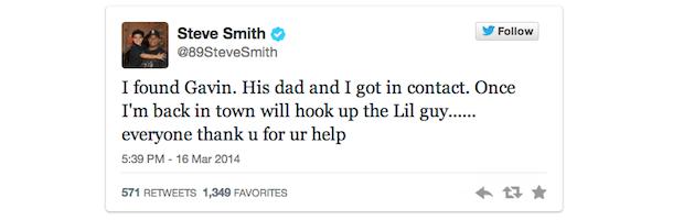 steve smith fan tweet